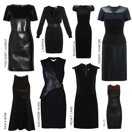 8 Dresses: The Leather Look