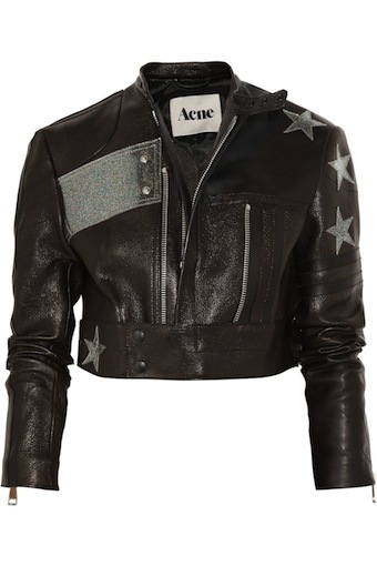 starry nights: love this Acne leather jacket. would be so cute...