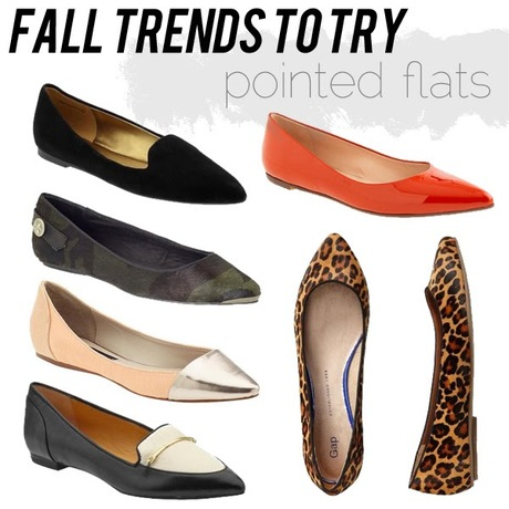 fall trends to try: pointed flats!