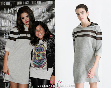 selenascloset:  Selena Gomez sported this Zara Combination Dress...