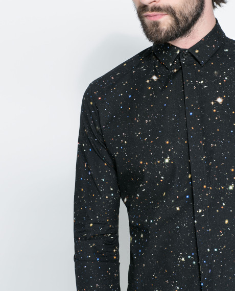 ZARA Black Photoconcept Printed Shirt