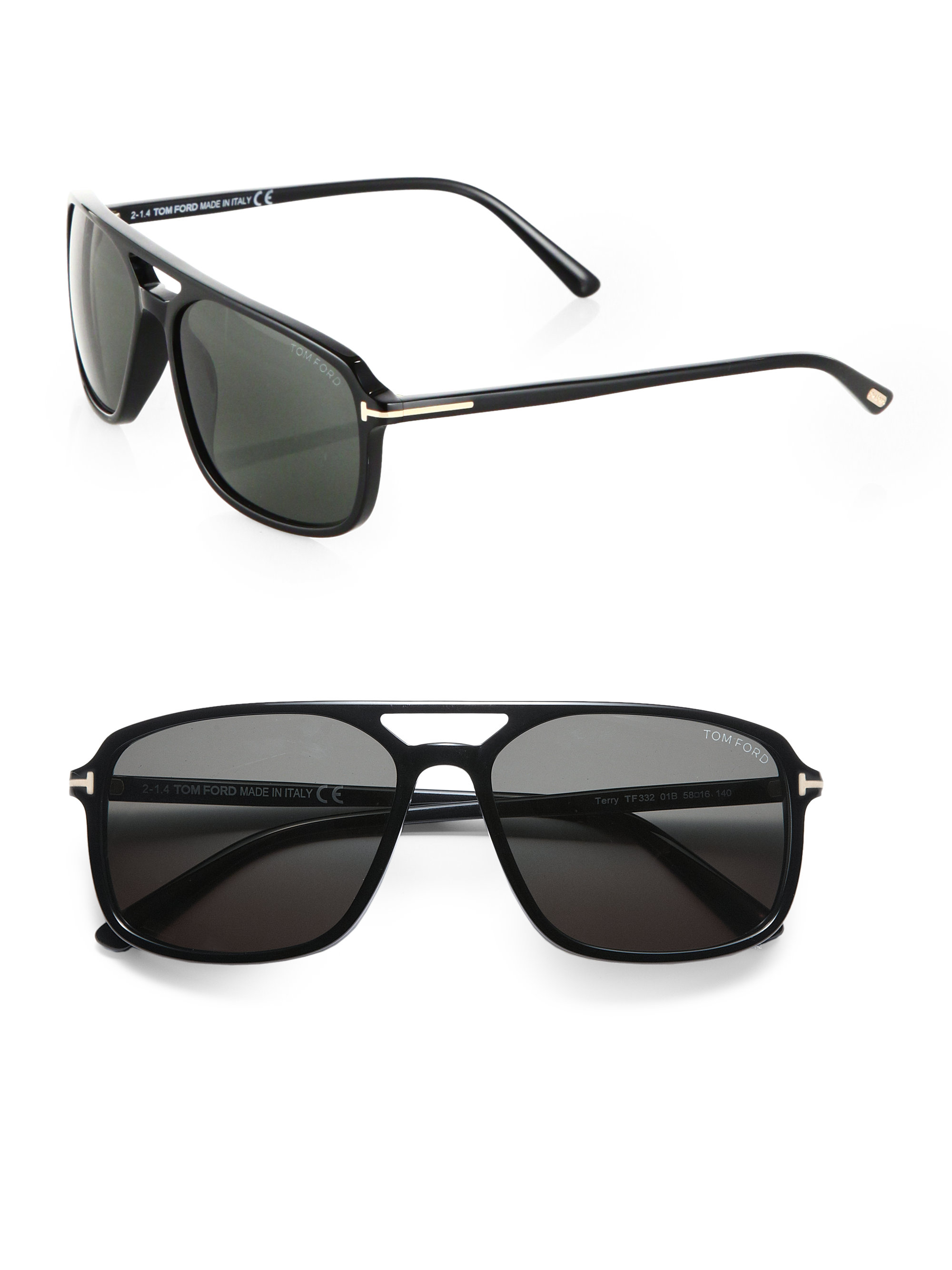 b1b0efdb9d Tom Ford Flynn 58mm Acetate Sunglasses in Black for Men - Lyst