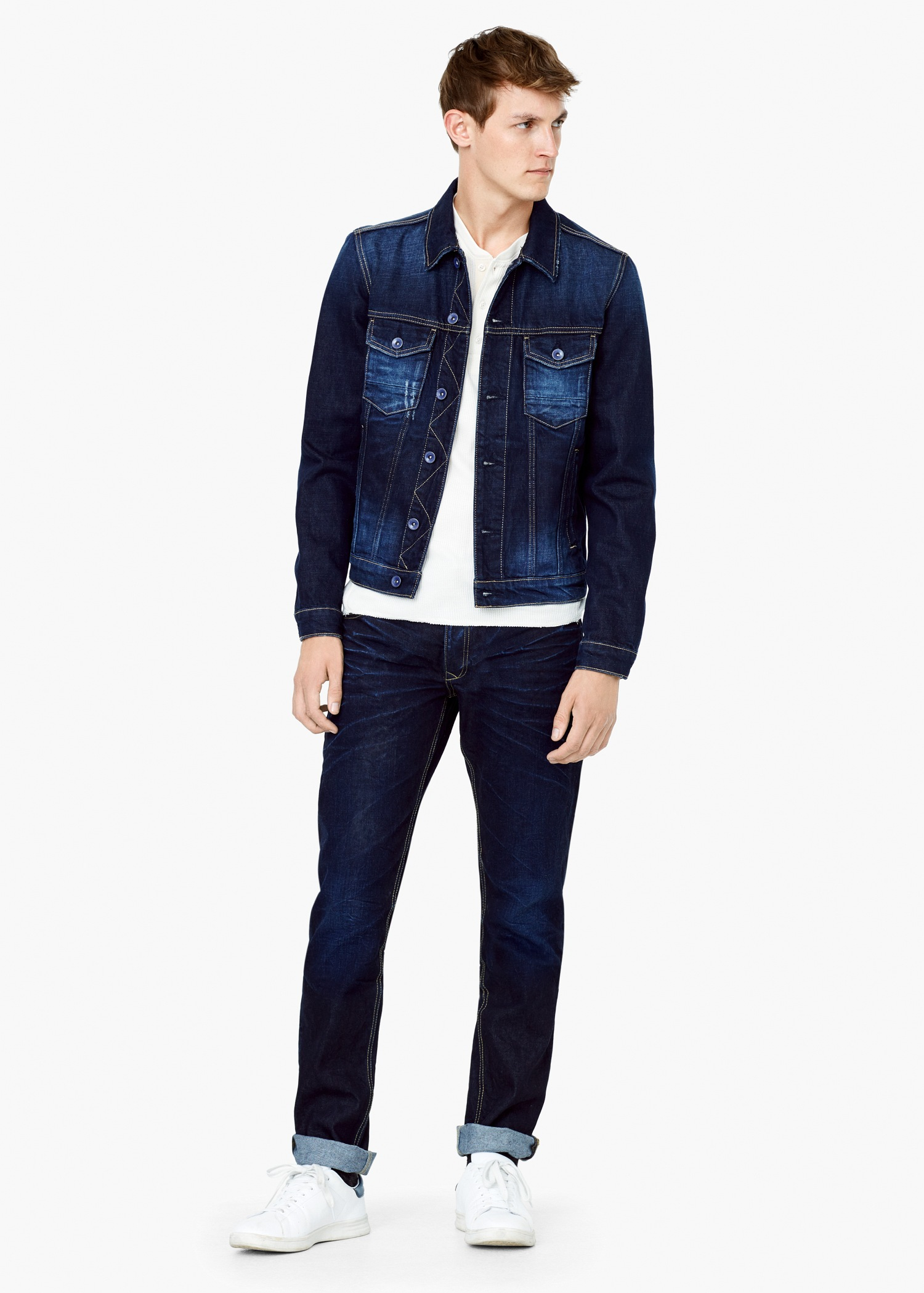 Mens Dark Blue Denim Jacket - Best Jacket 2017
