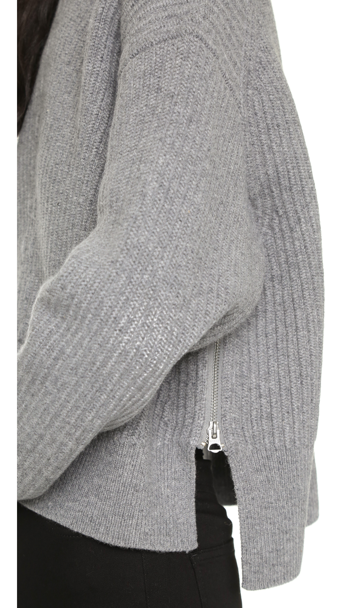 Acne studios Java L Ribbed Sweater in Gray | Lyst