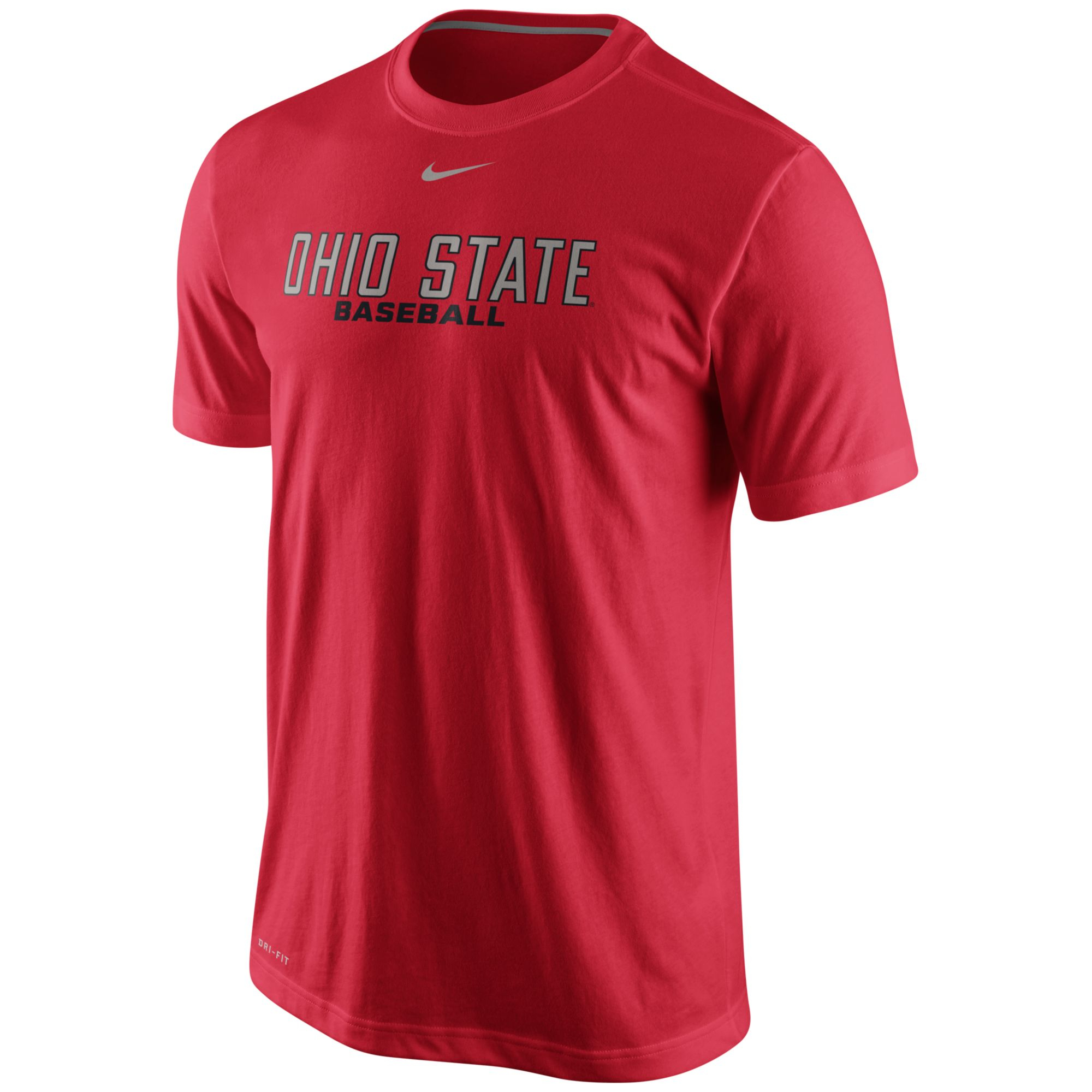Nike men 39 s ohio state buckeyes baseball dri fit practice t for Ohio state shirts mens
