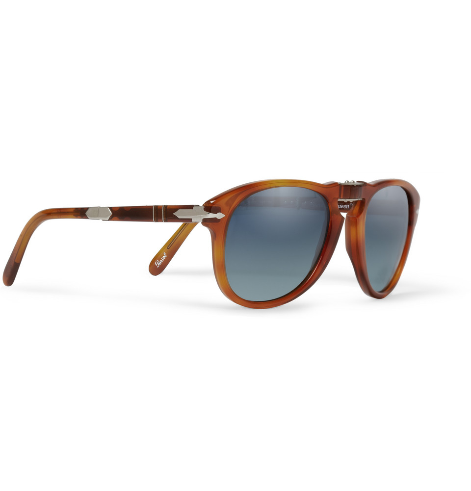 ec86d077b183f Persol Steve Mcqueen 714 54 Folding Acetate Sunglasses in Brown for ...