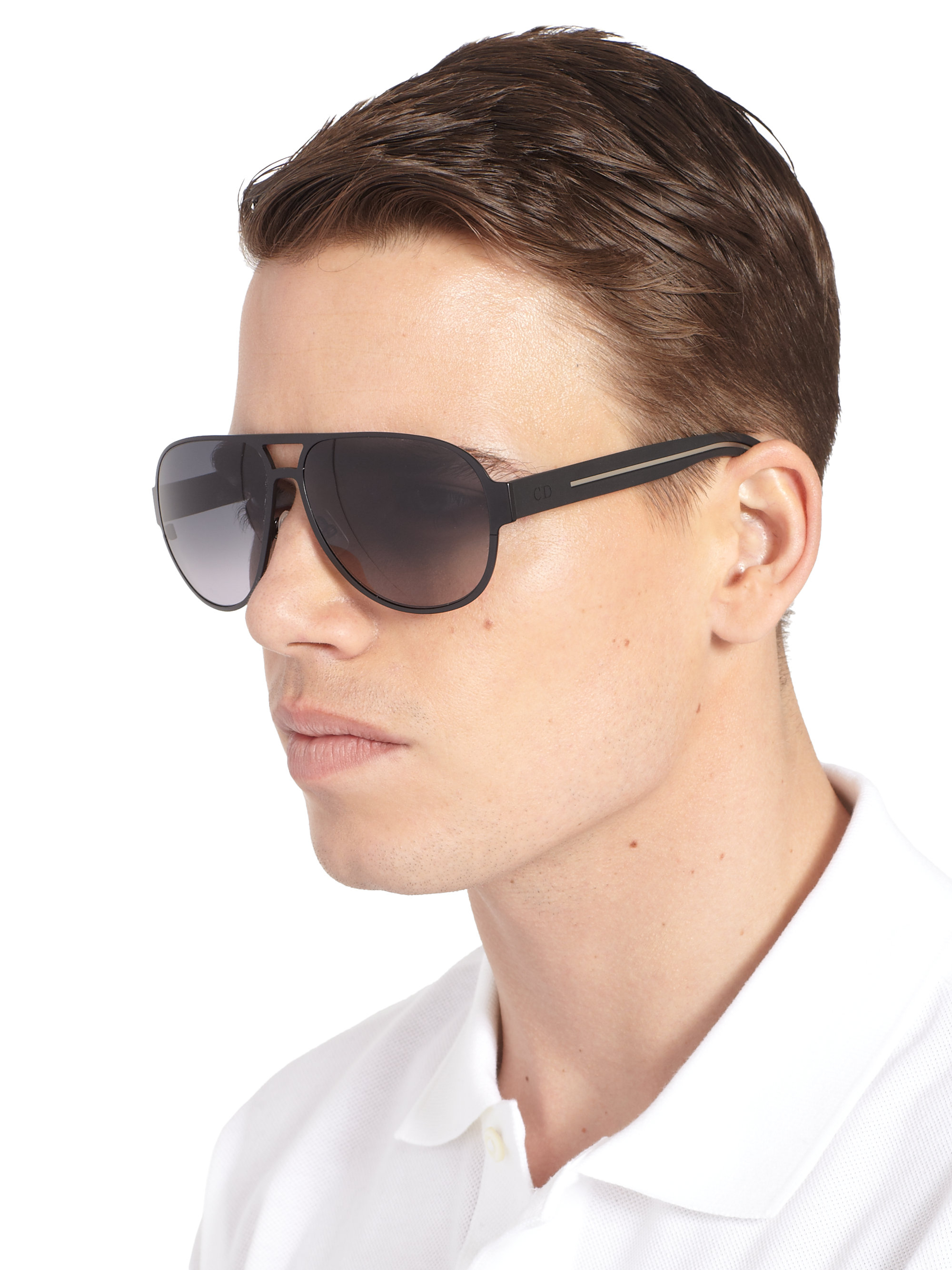 Dior Aviator Sunglasses  dior homme aviator sunglasses in black for men lyst