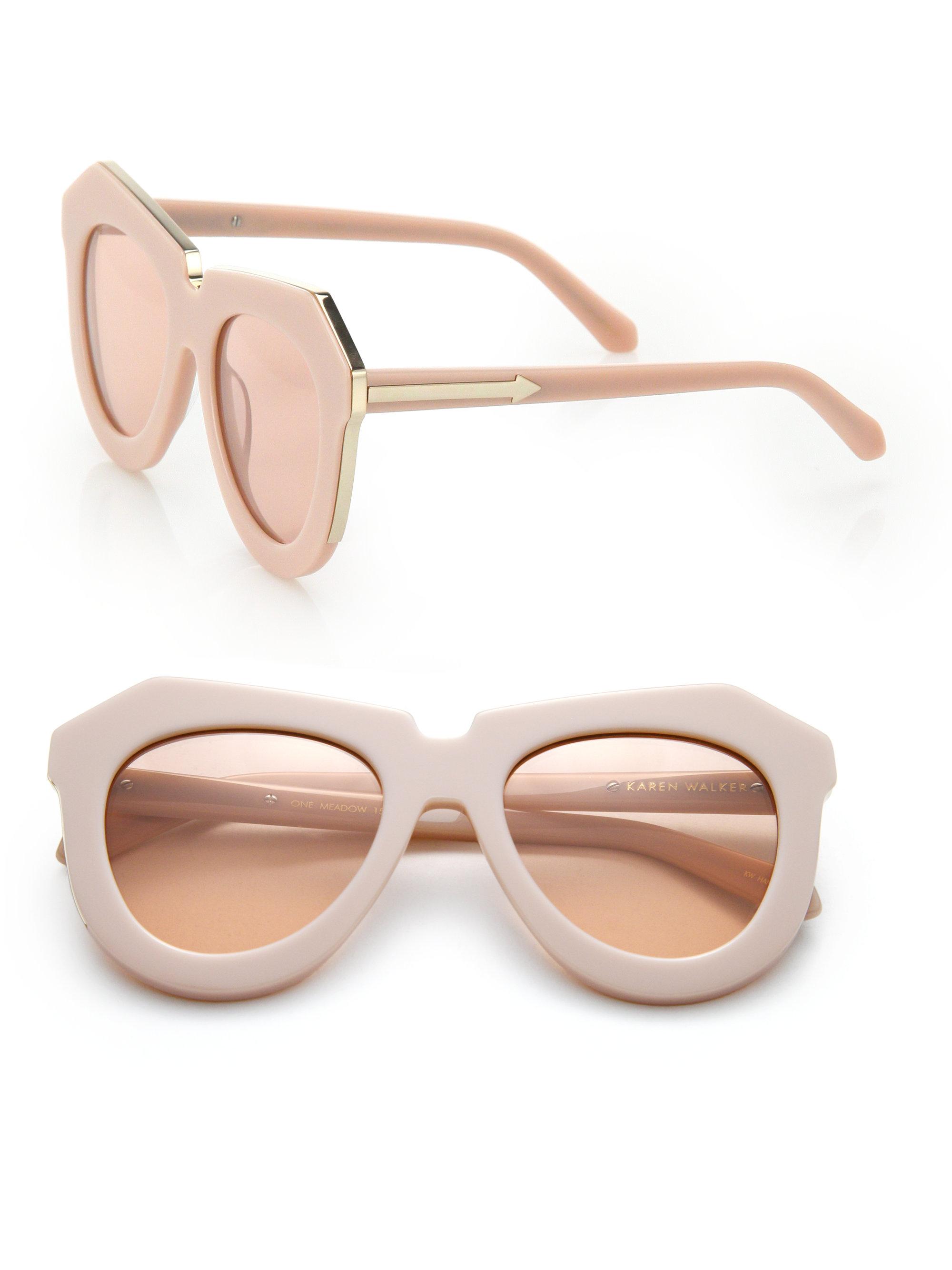 ea251a8f4e0 Karen Walker One Meadow 51mm Modified Cat's-eye Sunglasses in Pink ...