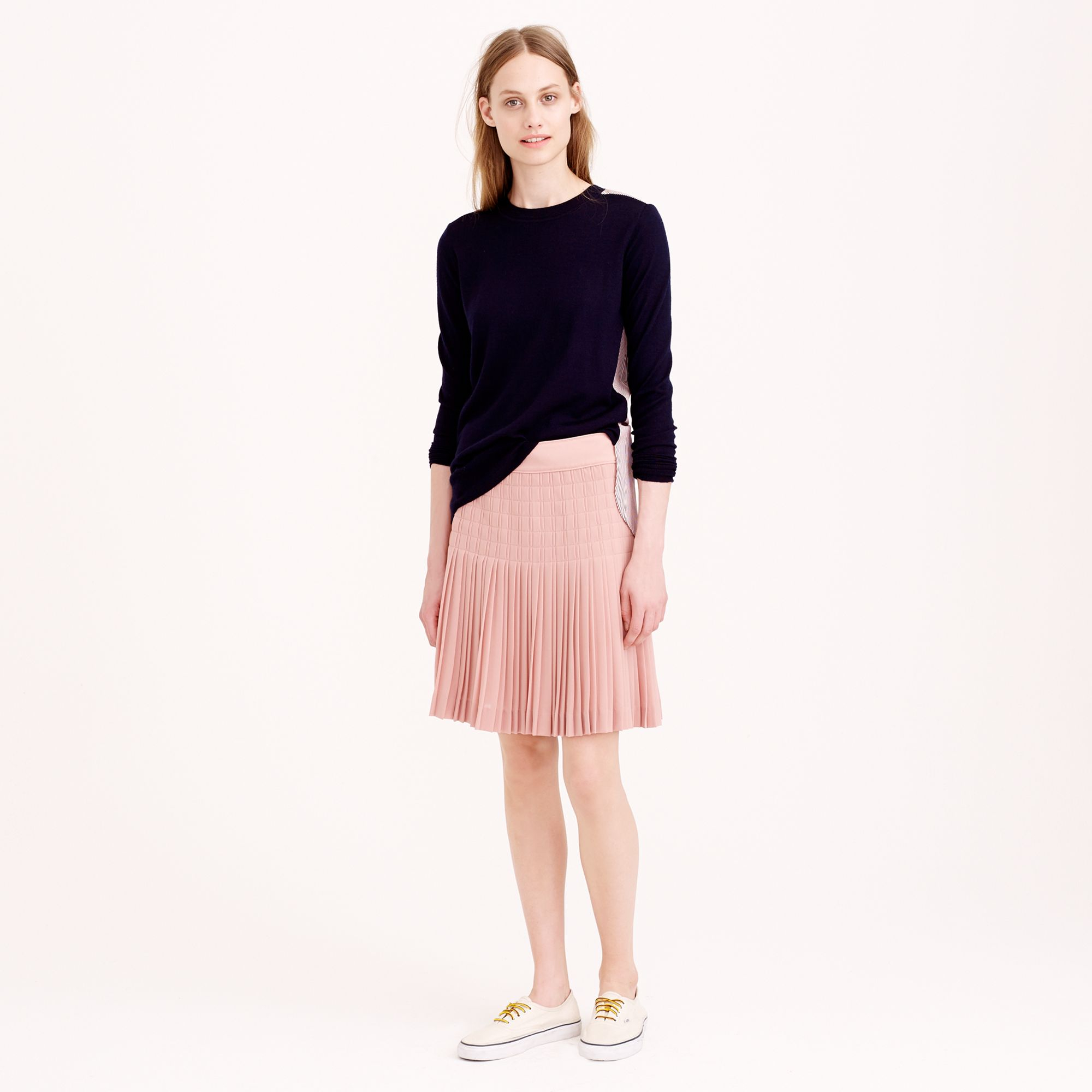 bbd45547a8 J.Crew Pleated Lattice Skirt in Pink - Lyst
