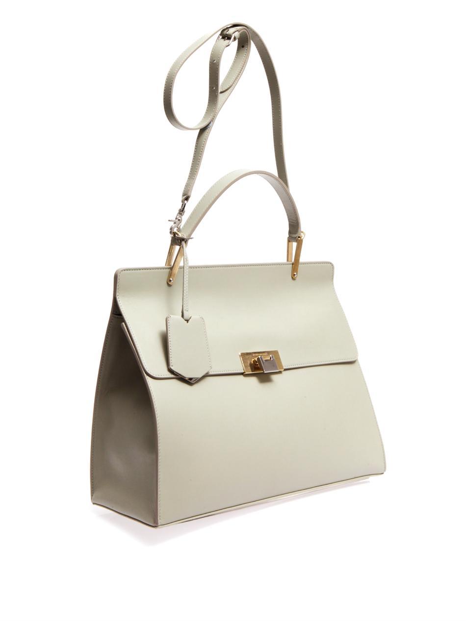 Balenciaga Grey Leather Bag