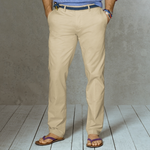 0014afbdc Polo Ralph Lauren Slim Fit Stretch Chino Pant in Natural for Men - Lyst