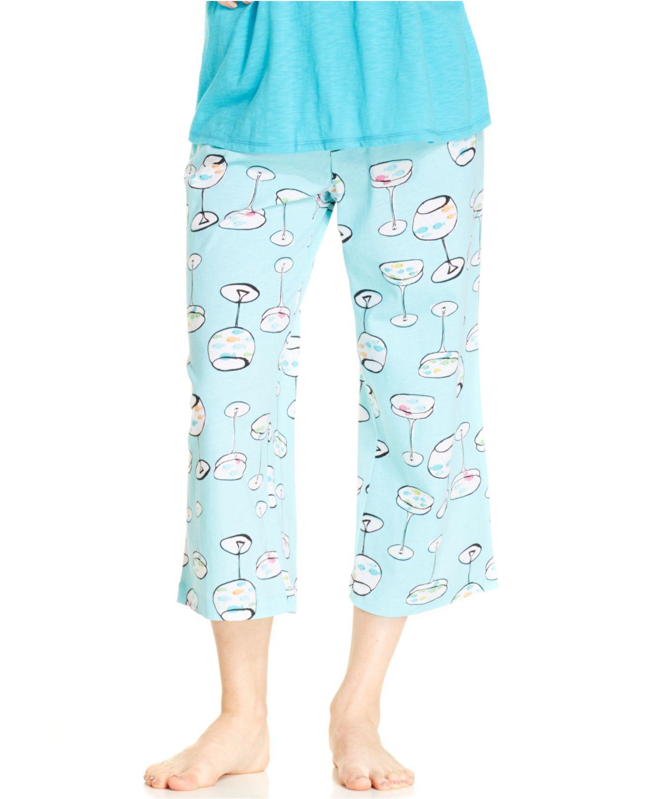 Lyst - Hue Fish In A Glass Capri Pajama Pants fcf58ba84