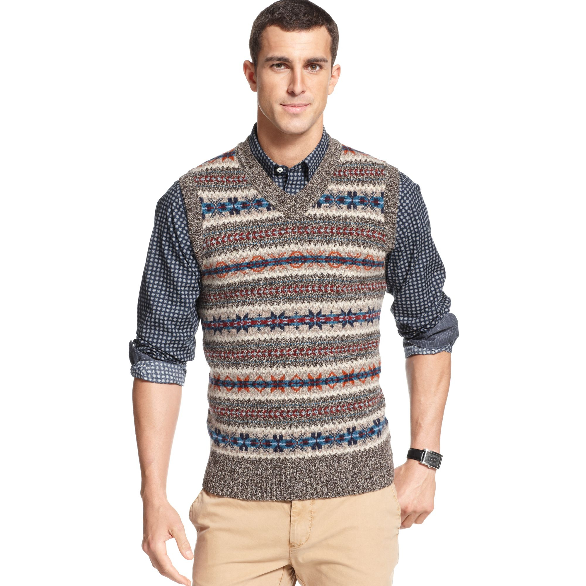 Lyst Tommy Hilfiger Zac Sweater Vest European Collection In Brown
