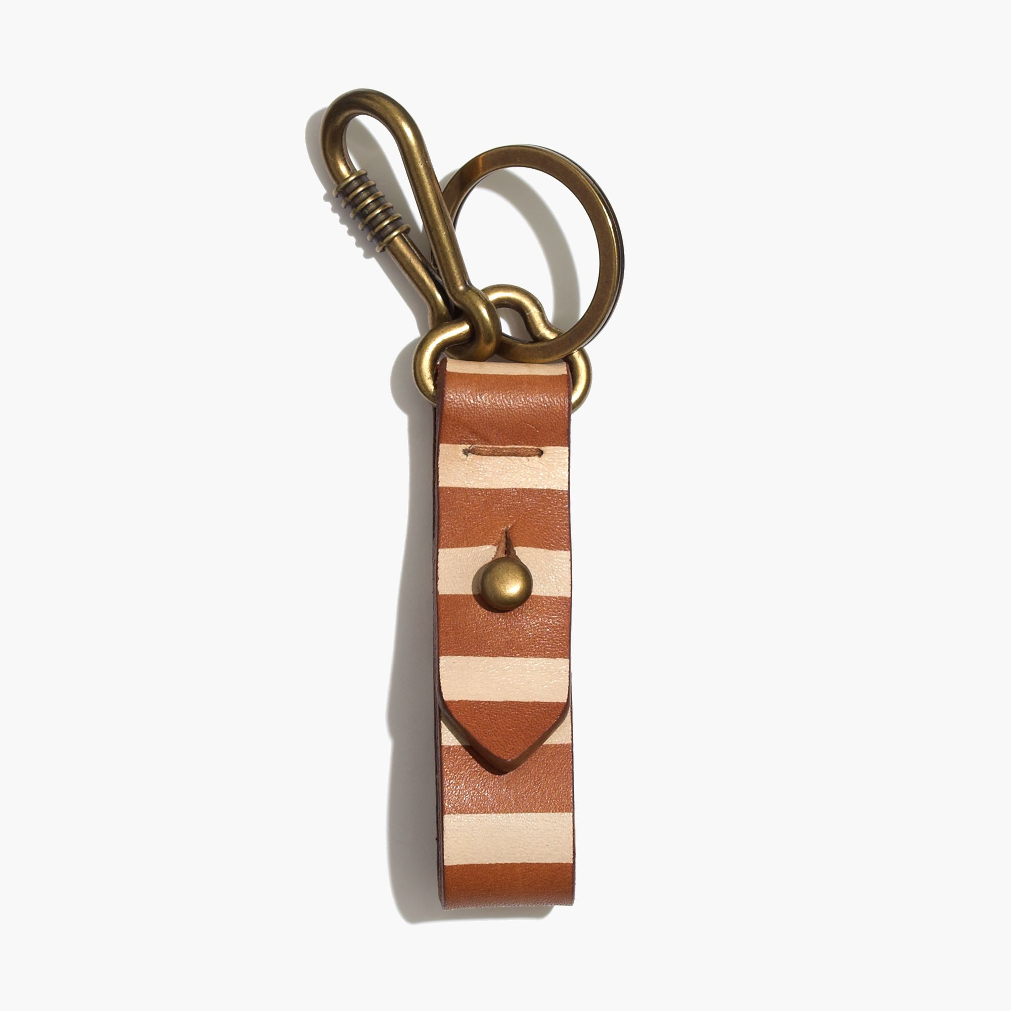 Lyst   Madewell Front Door Key Fob In Paintstripe In Brown