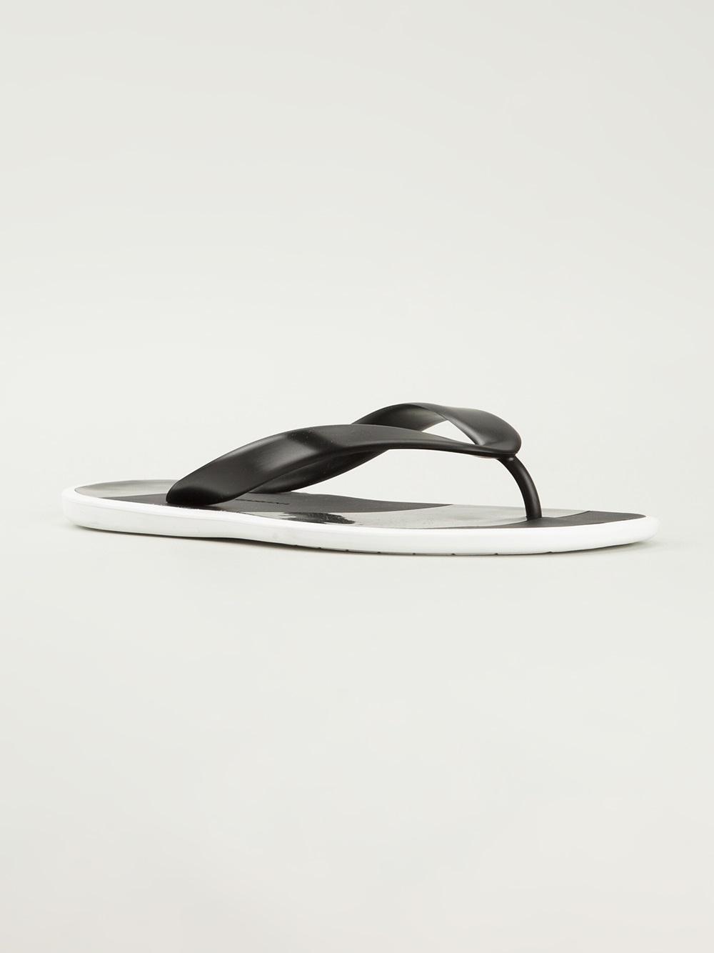 0d1c93f1a190cb Lyst - Dolce   Gabbana Monochrome Flip Flops in Black for Men