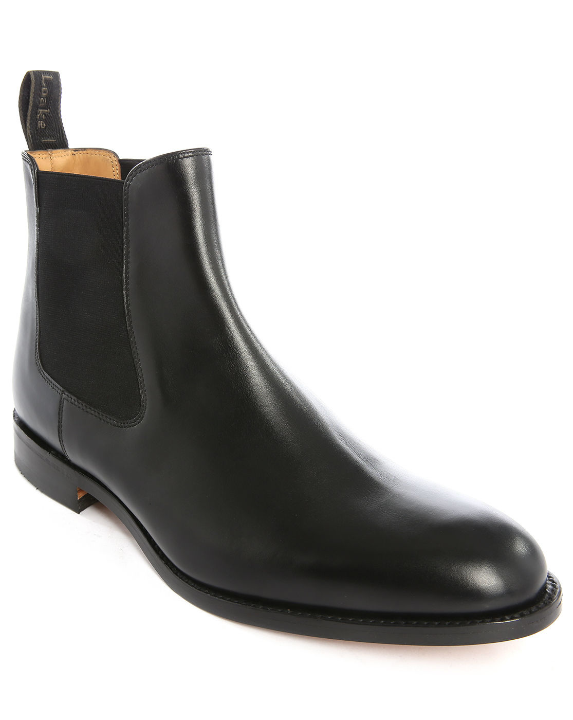 loake petworth leather chelsea boots in black for men lyst. Black Bedroom Furniture Sets. Home Design Ideas