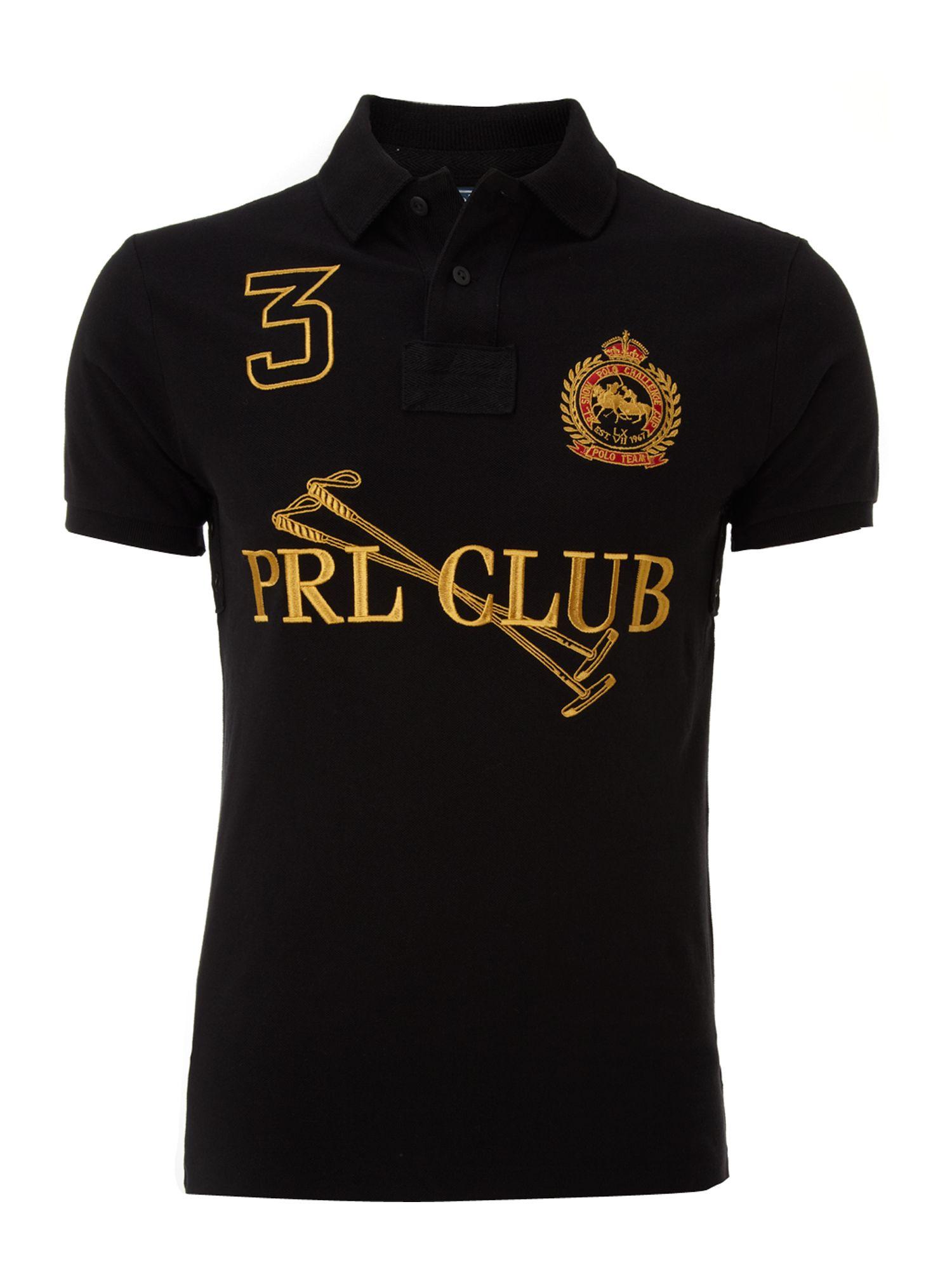 Polo ralph lauren club polo shirt in black for men lyst for Ralph lauren polo club shirts