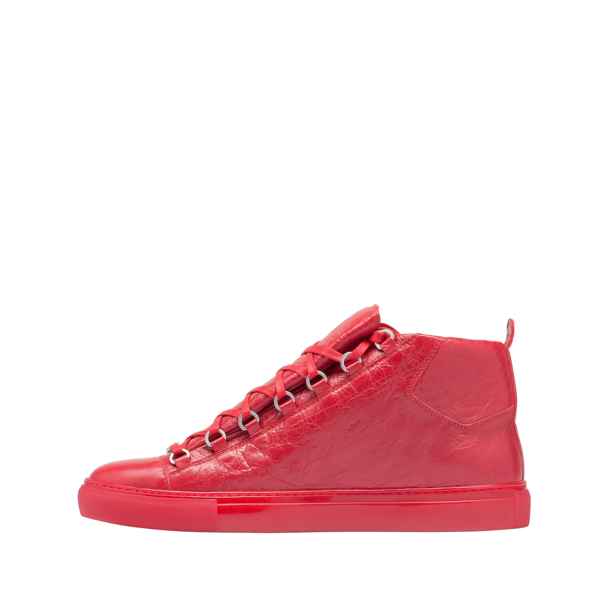 balenciaga arena high sneakers in red for men rouge