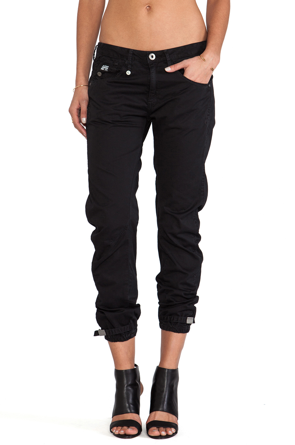 lyst g star raw arc 3d kate tapered pant in black. Black Bedroom Furniture Sets. Home Design Ideas