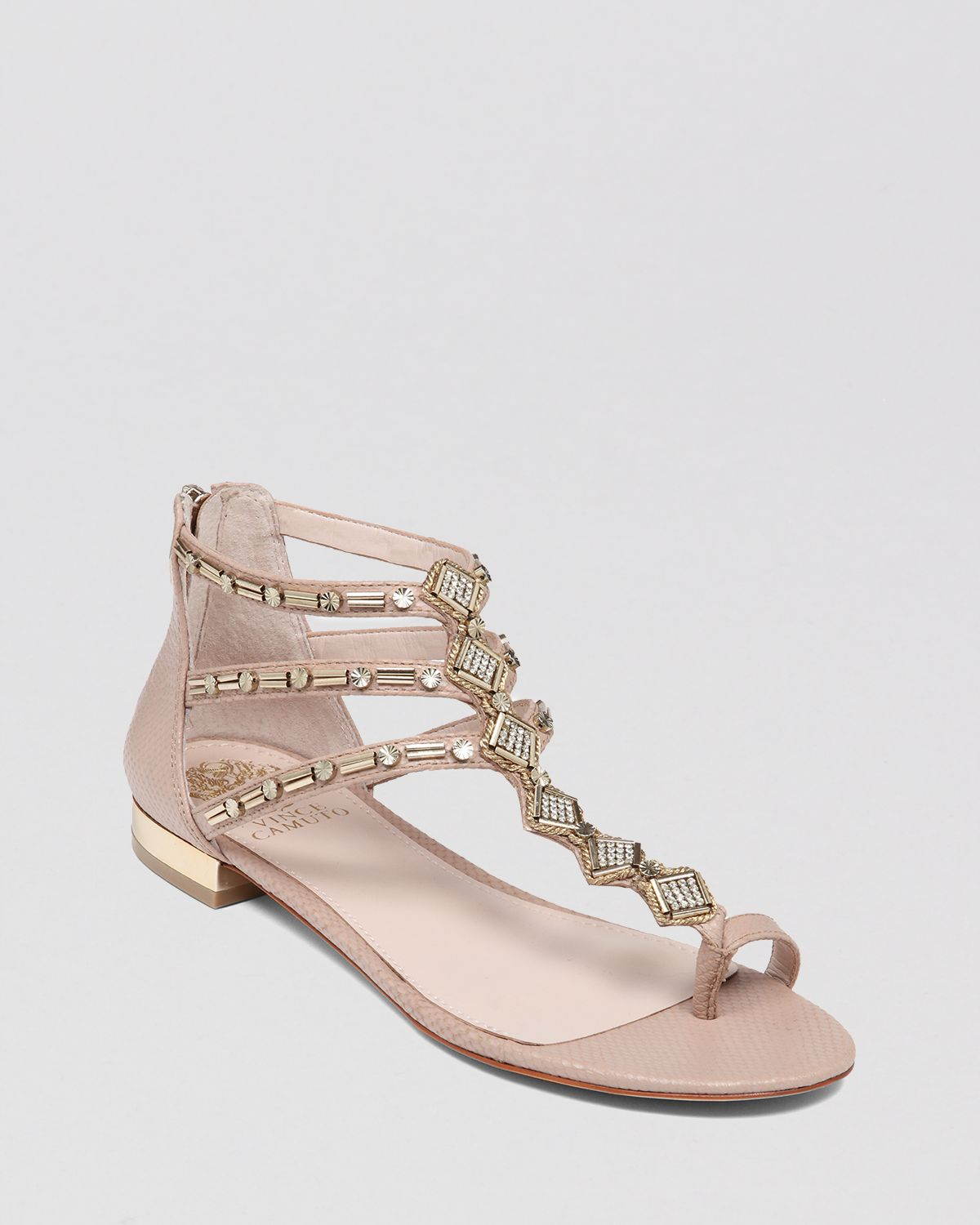 Vince Camuto Flat Sandals Hanelli In Metallic Lyst