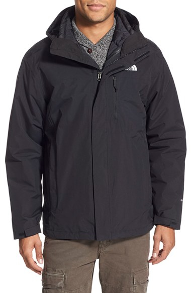 The North Face Carto Triclimate Waterproof 3 In 1 Jacket In Black For