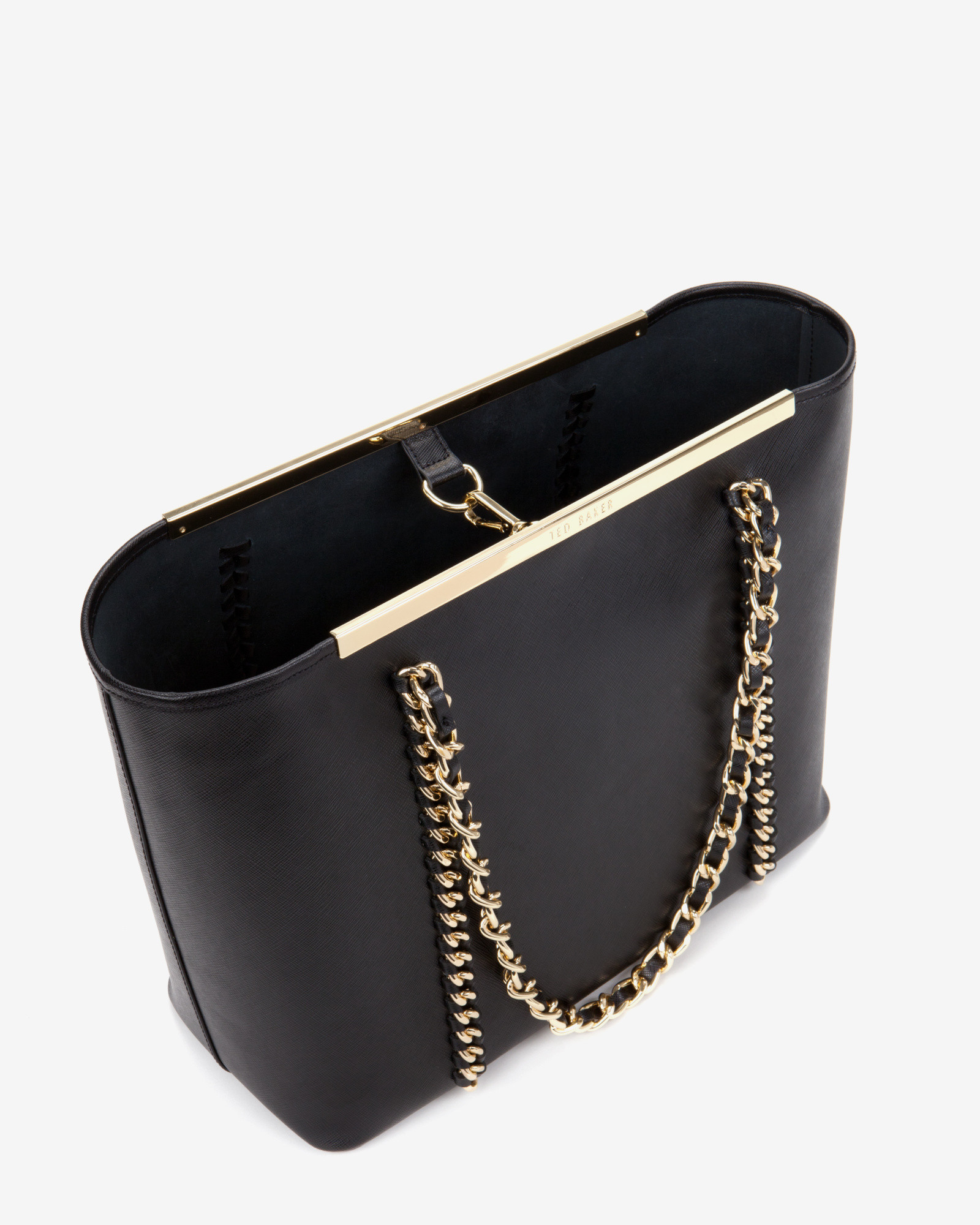 aff86ccb32c Ted Baker Metal Chain Shopper Bag in Black - Lyst