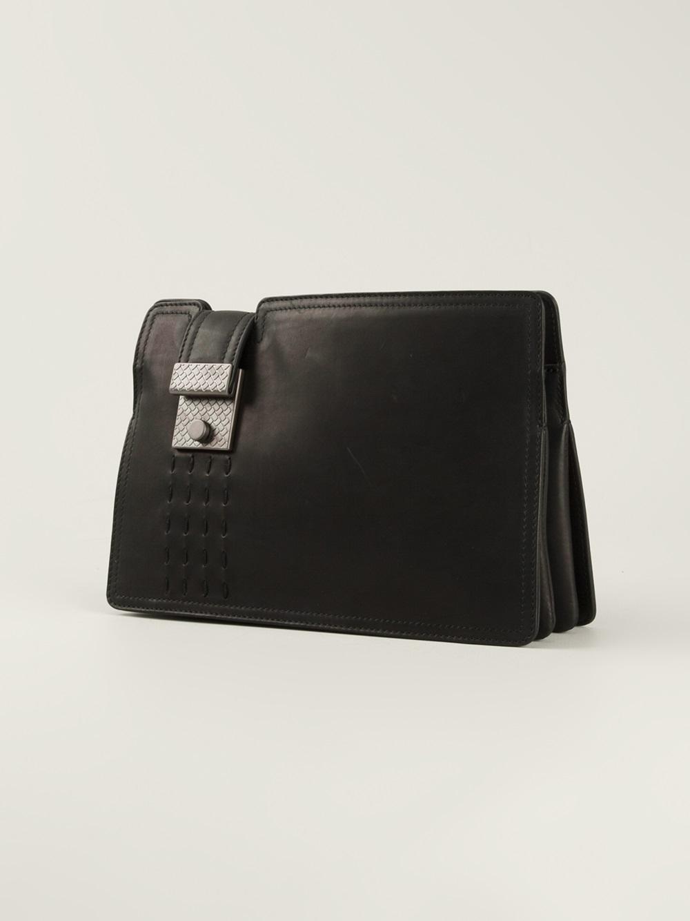 lyst bottega veneta clutch bag in black for men. Black Bedroom Furniture Sets. Home Design Ideas
