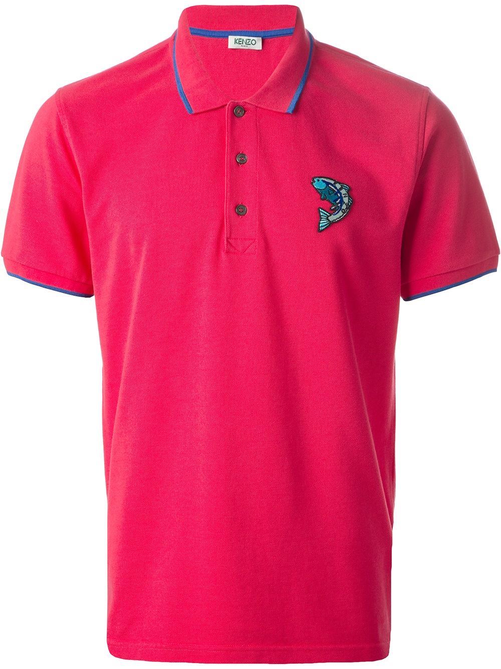 Kenzo fish polo shirt in purple for men pink purple lyst for Polo shirt with fish logo