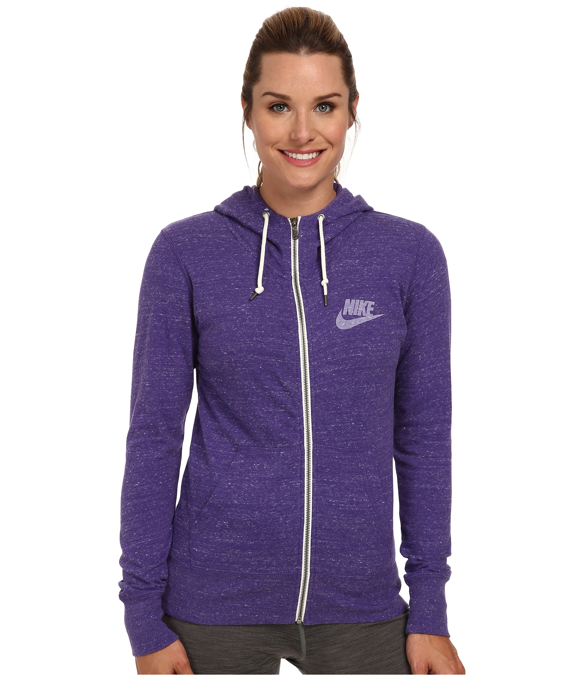 Nike Gym Vintage Full-Zip Hoodie in Purple | Lyst