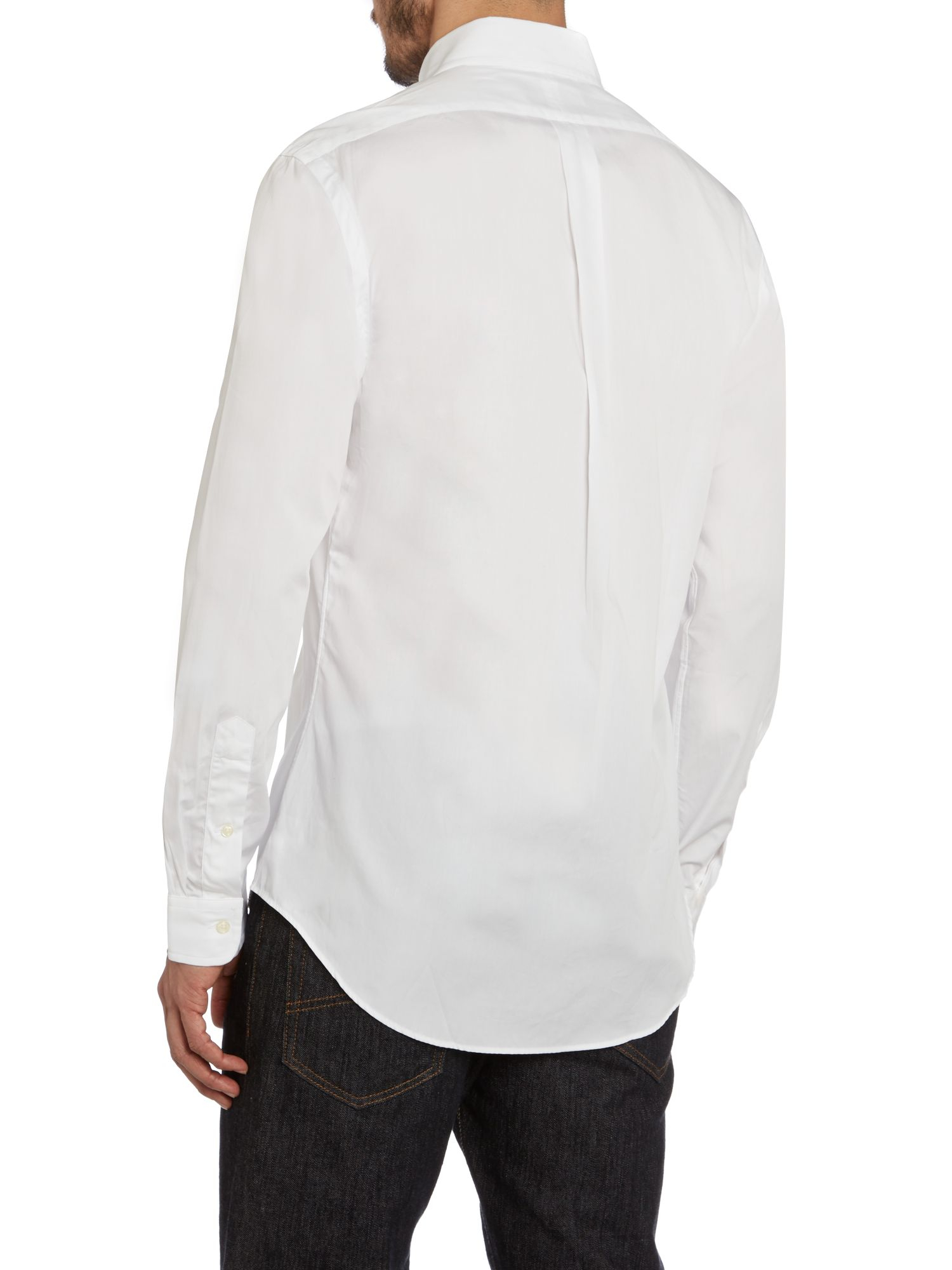 polo ralph lauren slim fit long sleeve shirt in white for men lyst. Black Bedroom Furniture Sets. Home Design Ideas