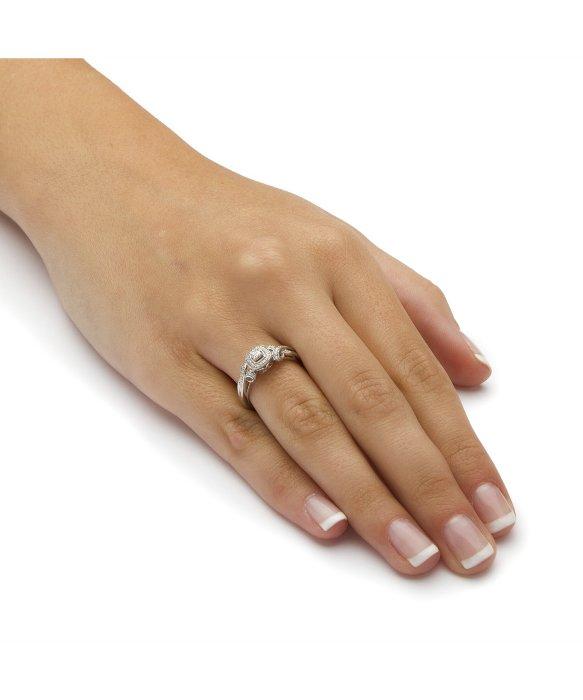 Palmbeach Jewelry 1 7 Tcw Princess Cut Diamond Halo And