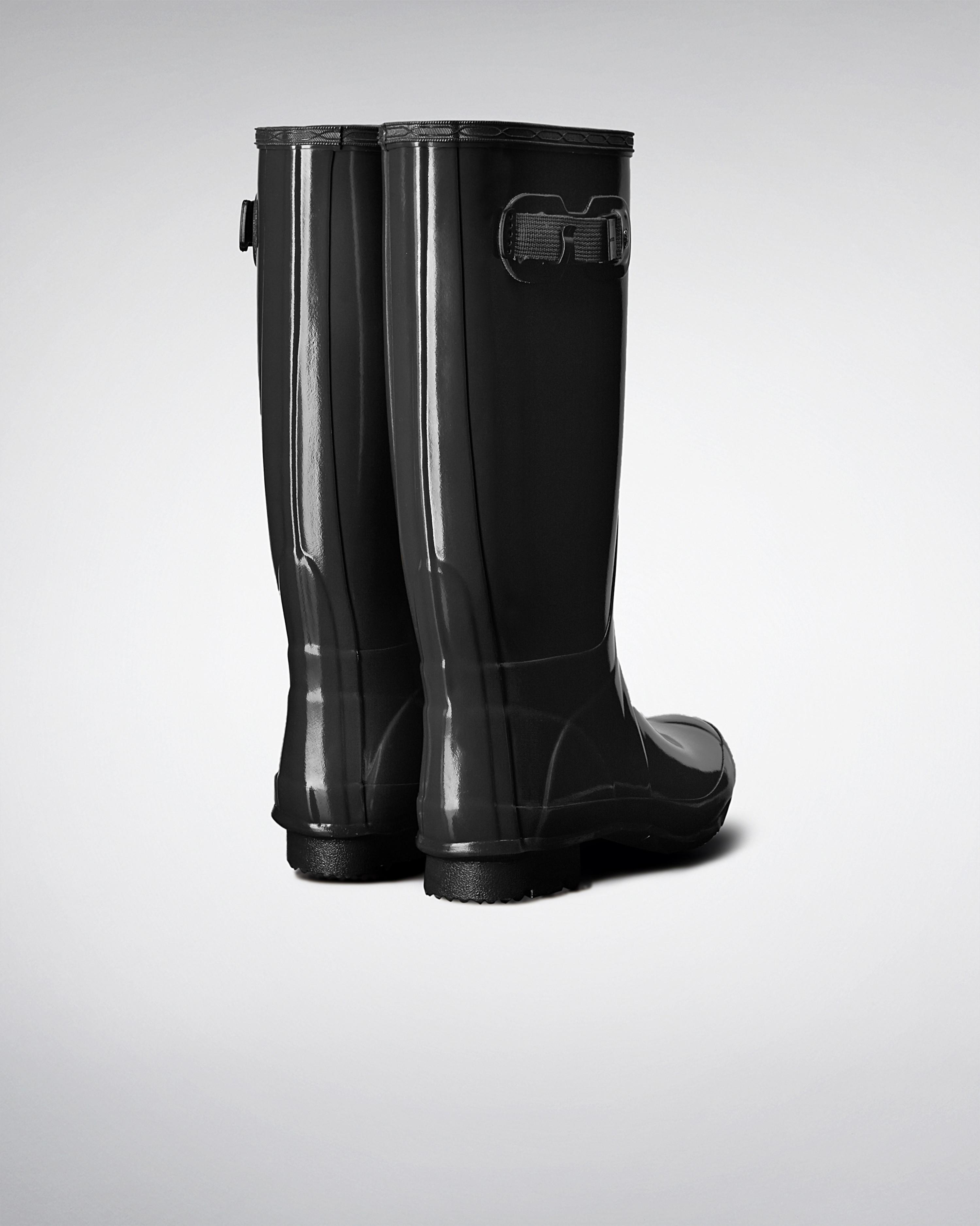 Womens Boots Hunter Huntress Gloss Black Gloss