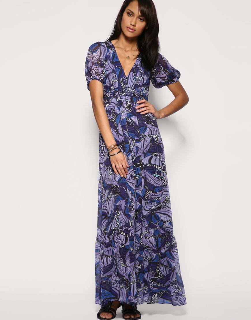 Oasis butterfly maxi dress