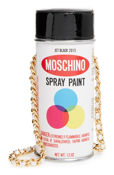 Lyst Moschino Spray Paint Can Leather Crossbody Bag In