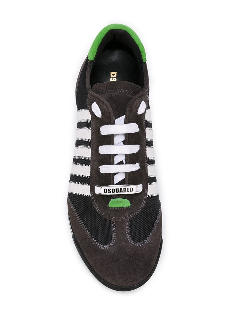 dsquared 178 striped sneakers in black for lyst