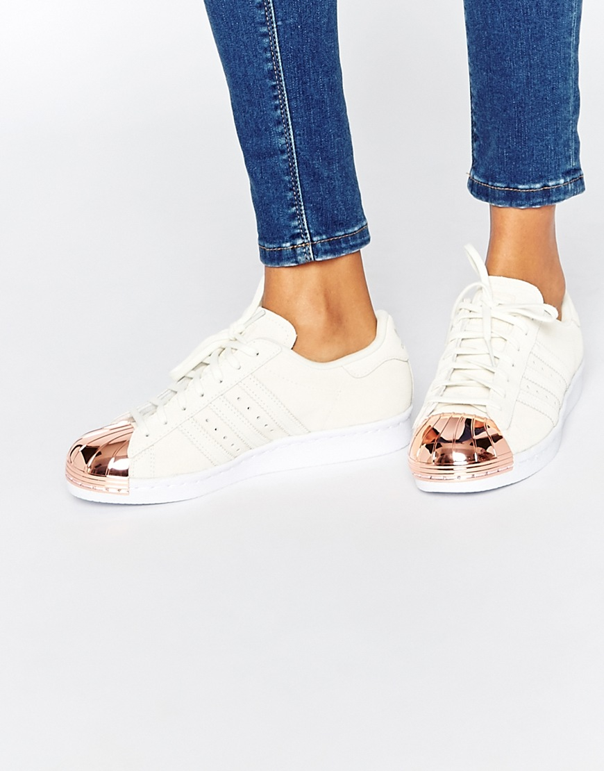 2ca971057c adidas Originals Superstar 80s Leather Low-Top Sneakers in White - Lyst