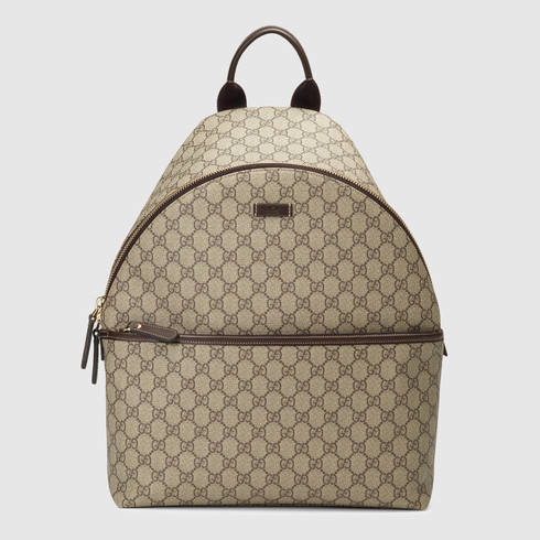 08cf77a34886fc Gucci Gg Supreme Zip Backpack in Brown for Men - Lyst