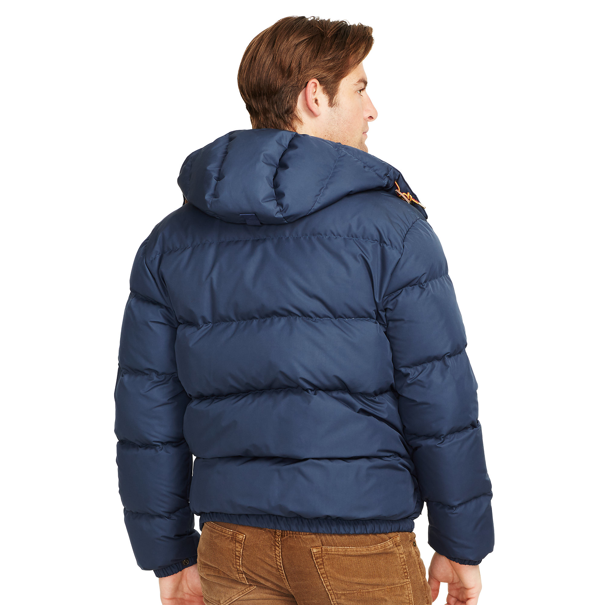 Polo ralph lauren Quilted Down Coat in Blue for Men | Lyst