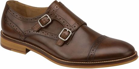 Johnston Amp Murphy Conard Leather Double Monk Strap Loafers