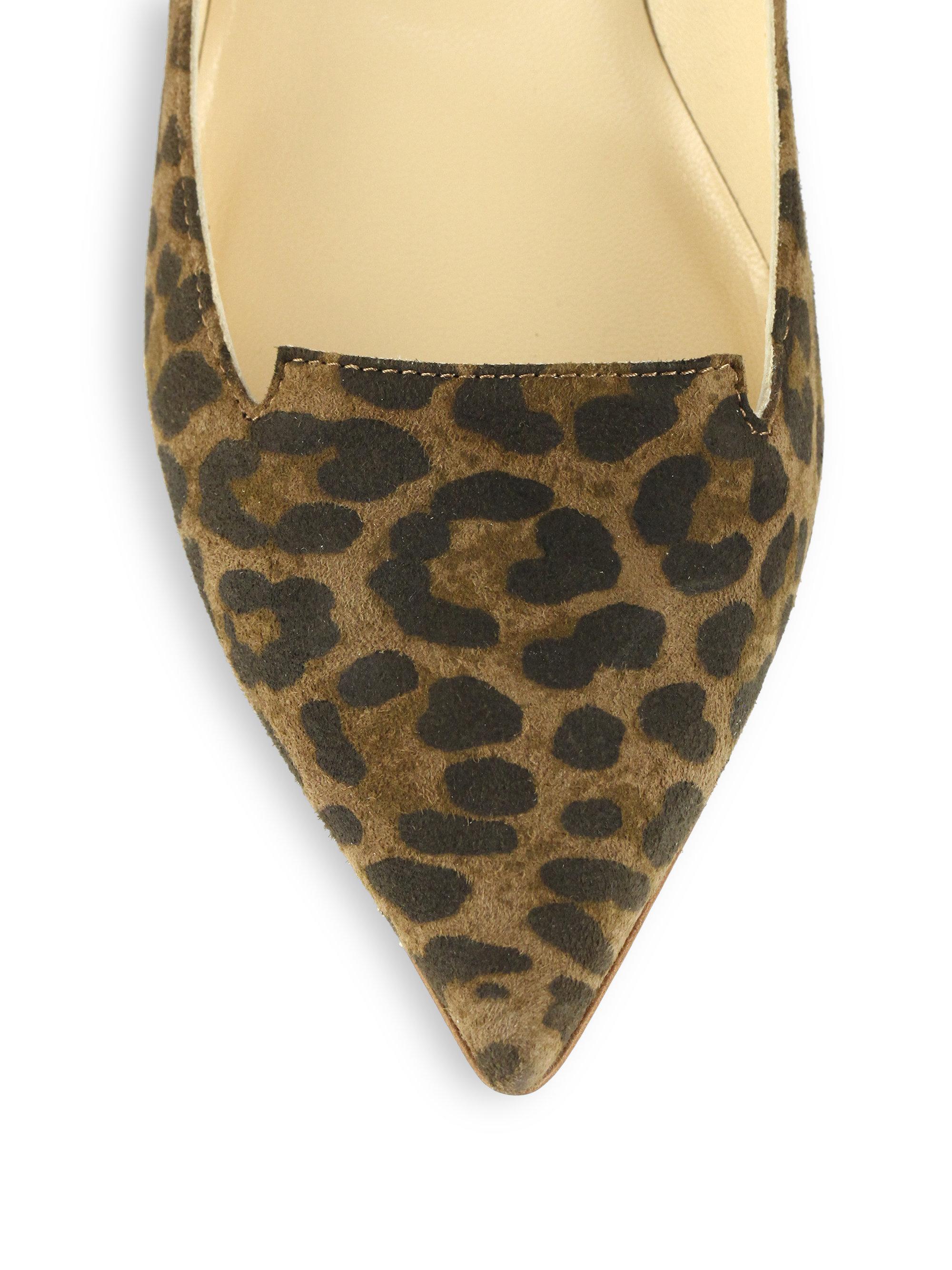 67b9d643707 Jimmy Choo Allure Leopard Suede Kitten Heel Pumps - Lyst