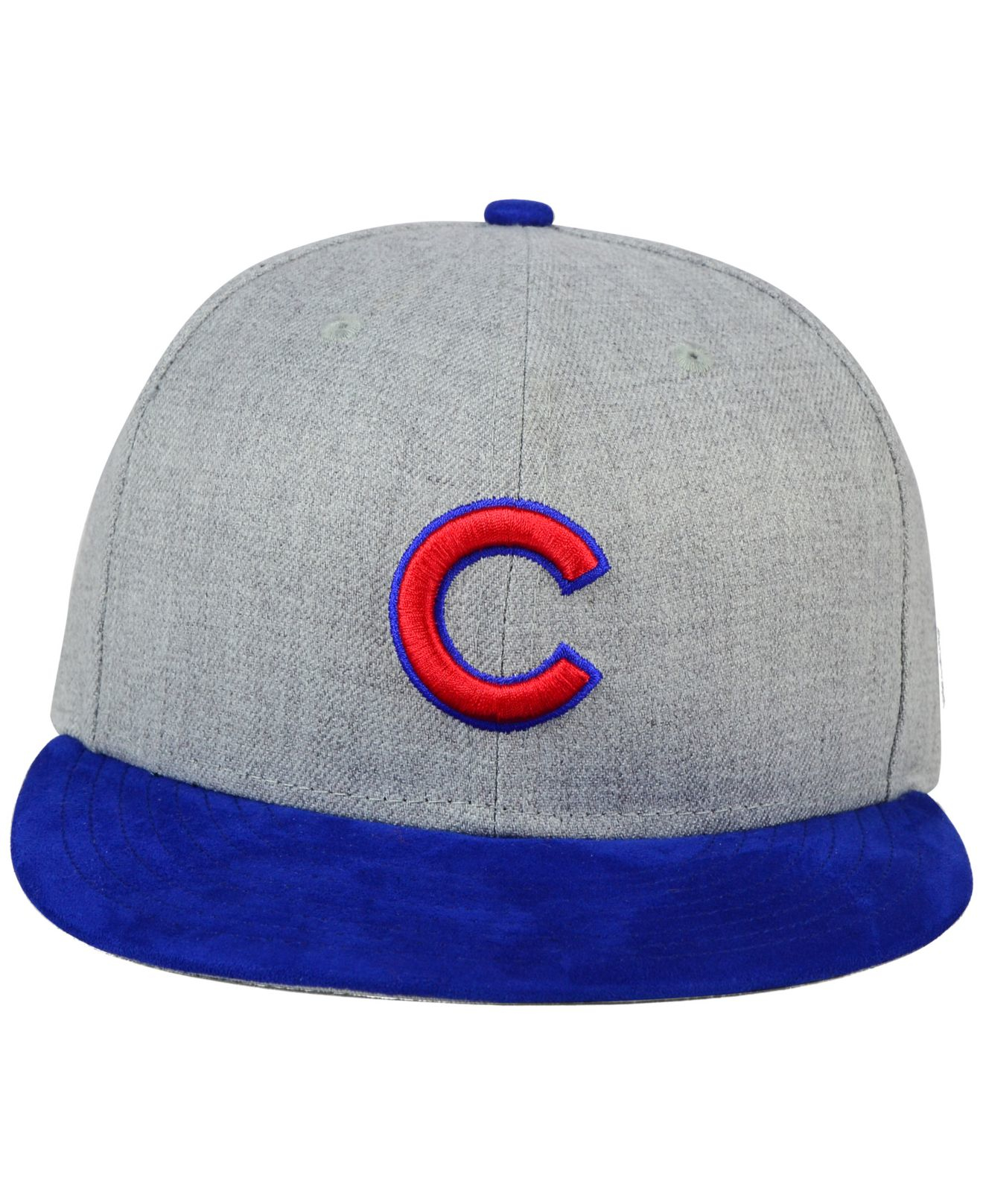 Lyst - KTZ Chicago Cubs Heather On Faux-suede 9fifty Snapback Cap in ... c370d697937f