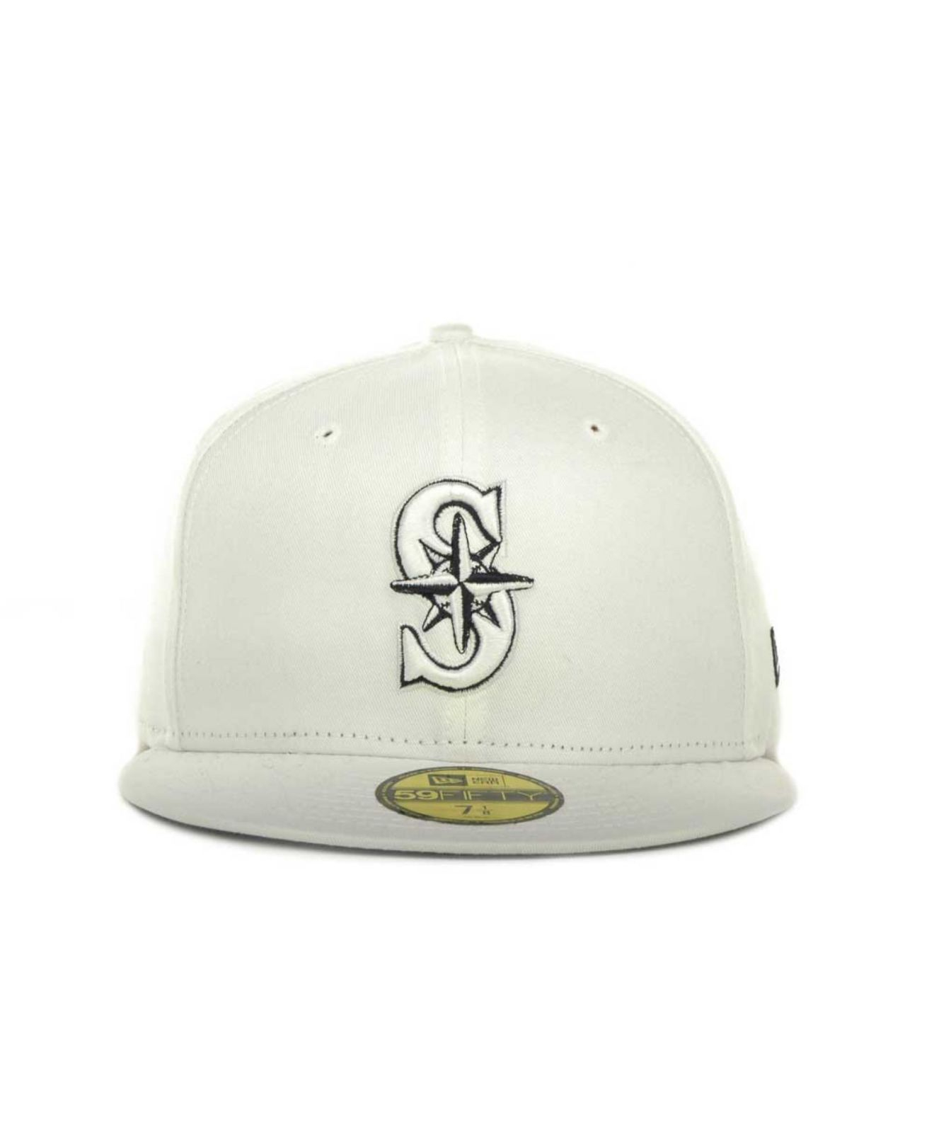 the best attitude 219b3 c8e2d ... best price lyst ktz seattle mariners mlb white on color 59fifty cap in  white 65657 51000