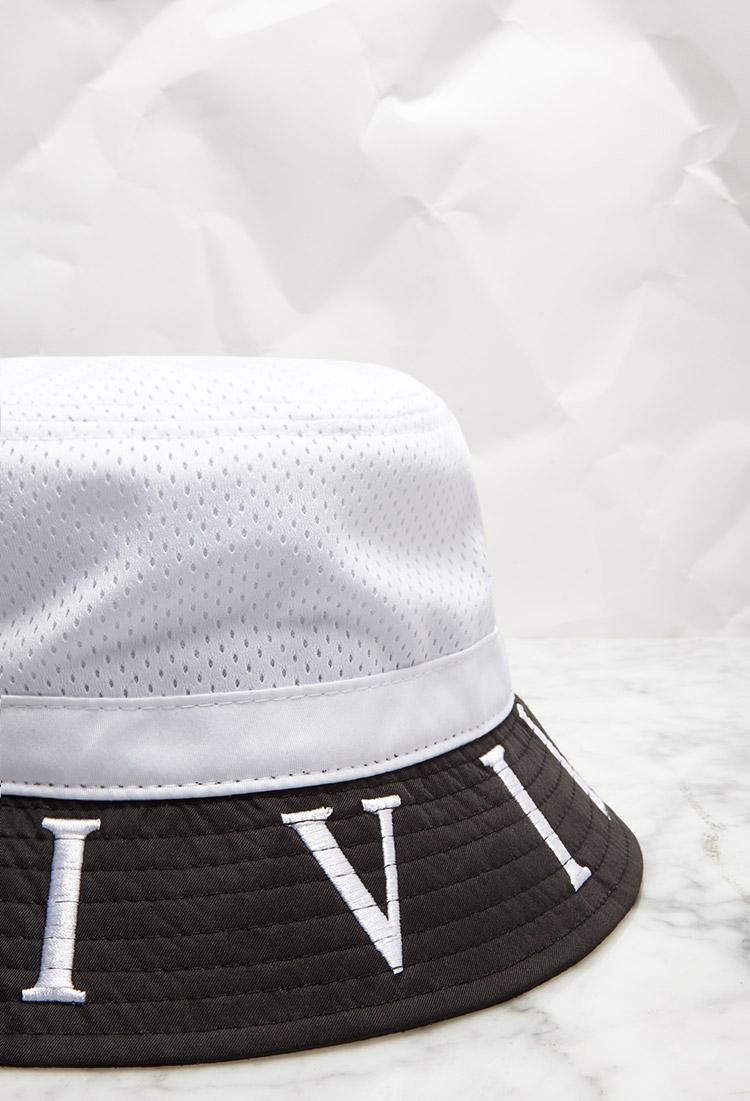 943b59afc9d Lyst - Forever 21 Civil Mesh Ctd Block Bucket Hat in White