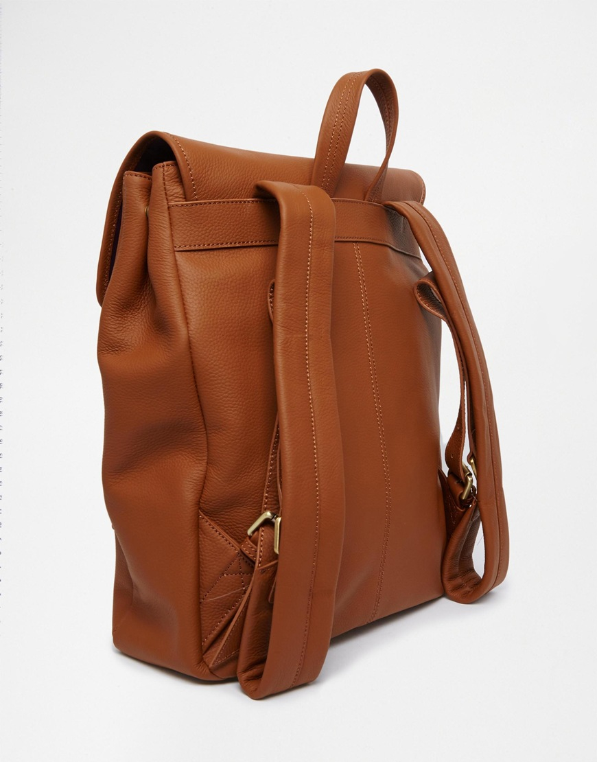 66085d5ed1e9 Lyst - Smith   Canova Mith And Canova Leather Backpack With Buckles ...