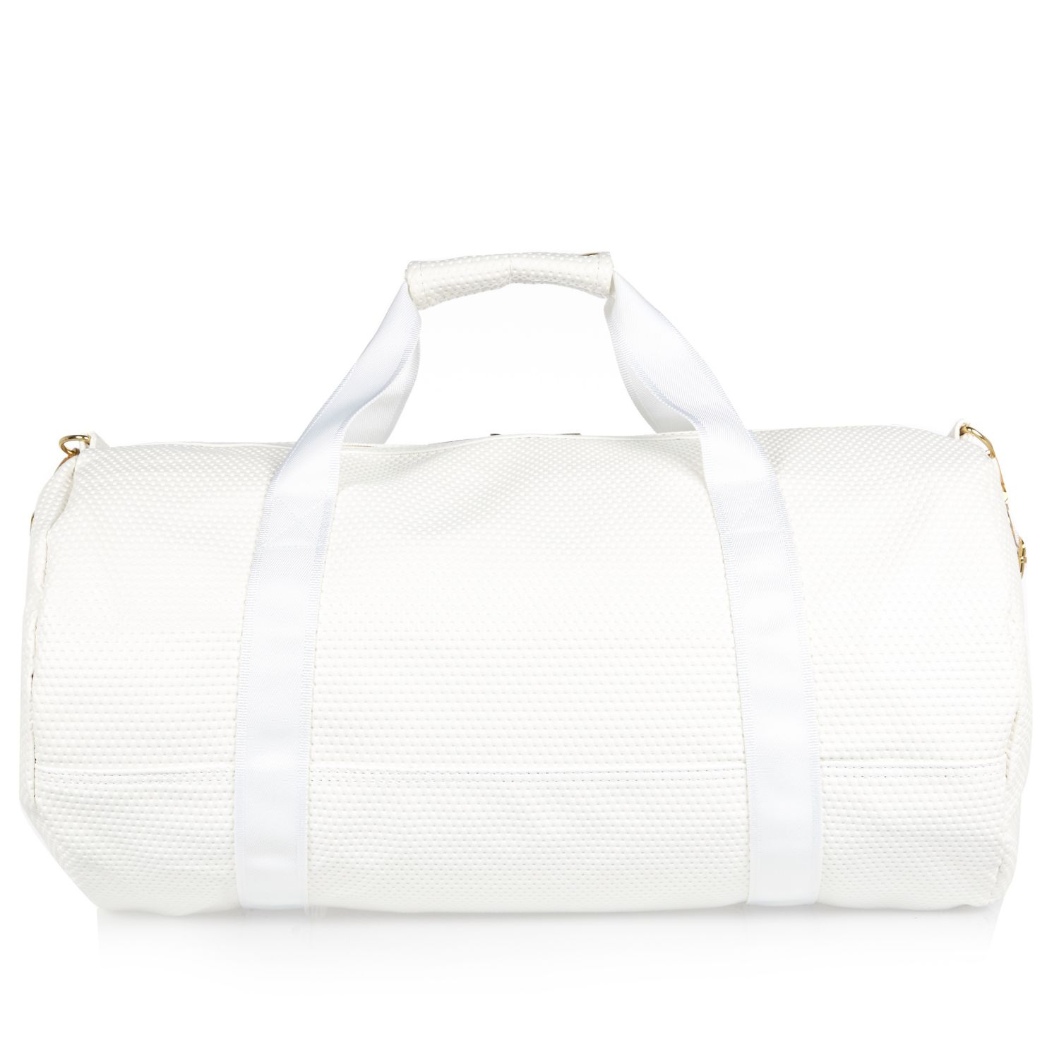 cbca5f989ecf River Island White Mipac Satin Mesh Duffle Bag in White for Men - Lyst