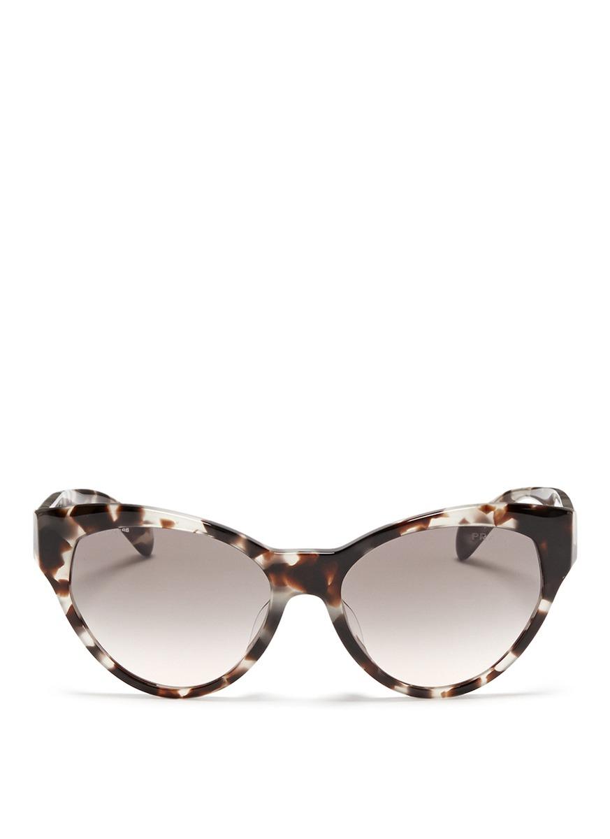 e66cb1071729 ... authentic lyst prada tortoiseshell acetate cat eye sunglasses b02be  4b708
