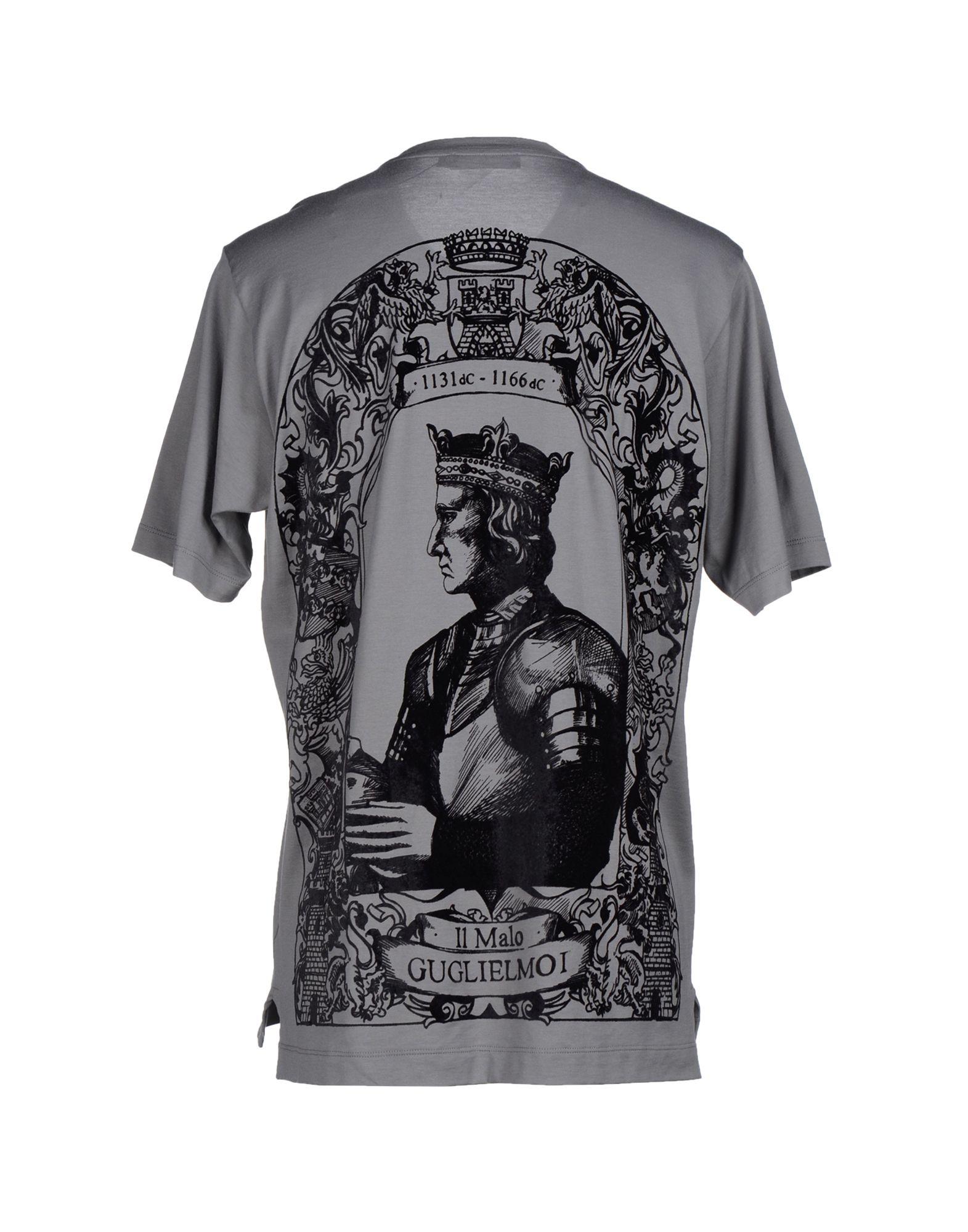 dolce gabbana t shirt in gray for men grey lyst. Black Bedroom Furniture Sets. Home Design Ideas