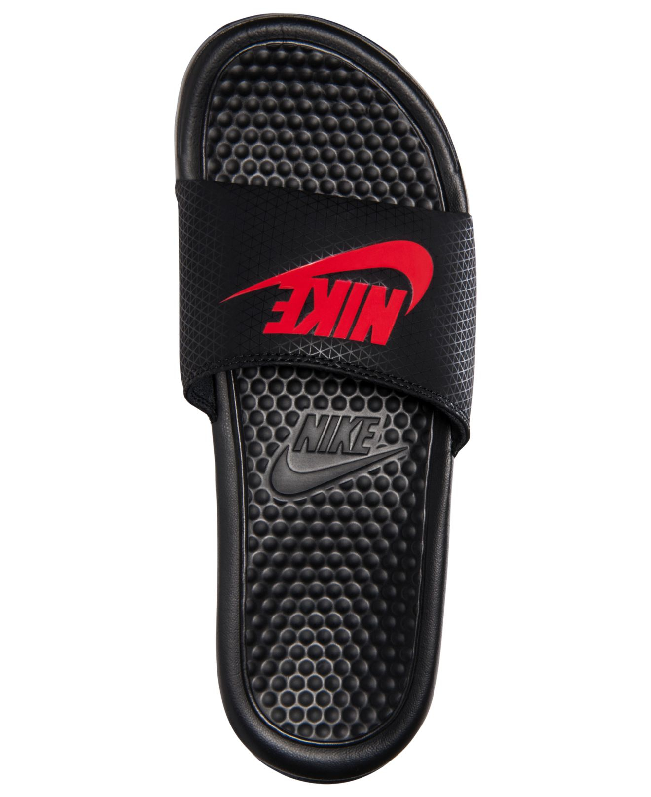 c1921fff09a08 ... black red slipper 343880 060 free shipping b4be3 5bf28  reduced lyst nike  mens benassi jdi slide sandals from finish line in d7e0f 11433