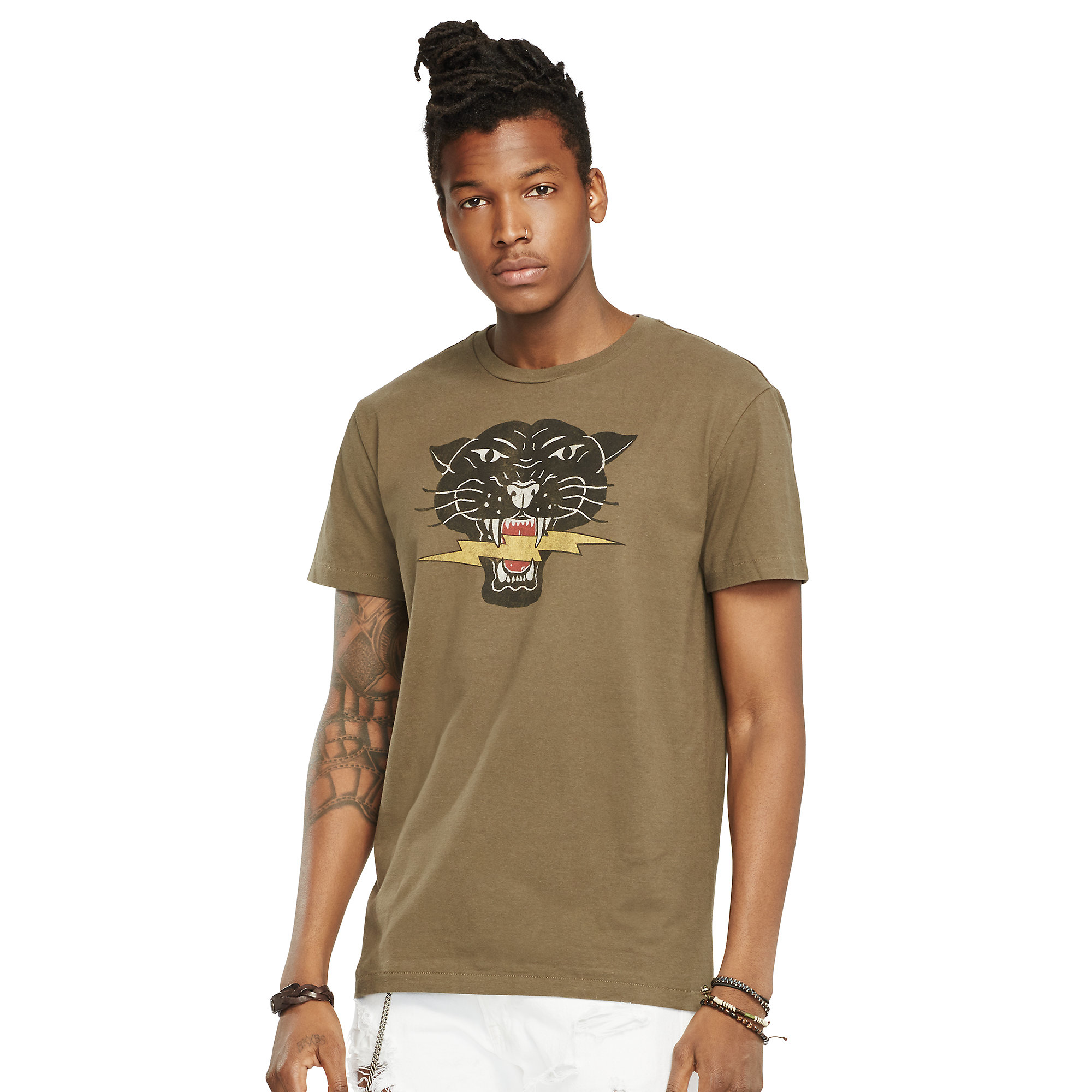 93042cbae Denim & Supply Ralph Lauren Cotton Jersey Graphic Tee in Green for Men -  Lyst