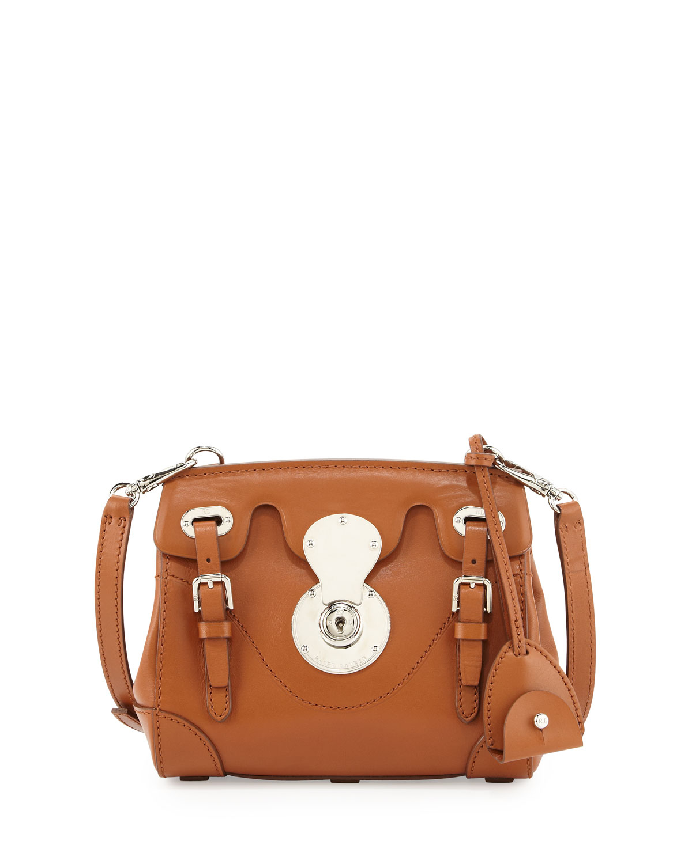 9413d8b669b9 ... france lyst ralph lauren soft ricky 33 calfskin satchel bag in brown  b91d8 a5ad6